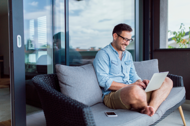 Hybrid office remote work from home
